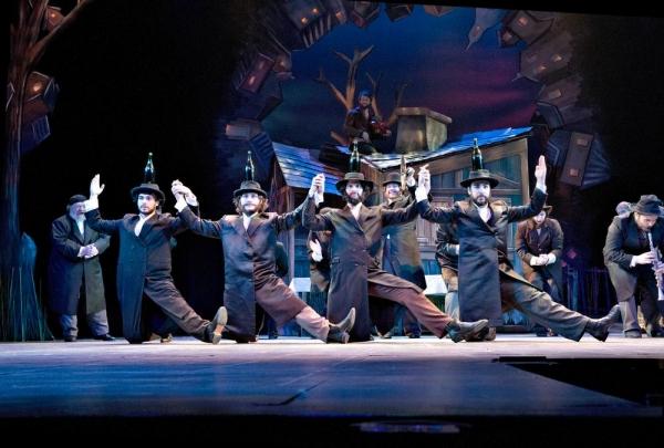 The famed bottle dance: front row, left to right: Hal Miers, Ben Delony, Cody Davis and Leonardo Altafini.