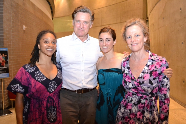 (L to R) Company members Samantha Speis, Bill Pullman, Alli Ross and Tamara Hurwitz Pullman at the opening night celebration for Healing Wars at Arena Stage at the Mead Center for American Theater June 12, 2014.