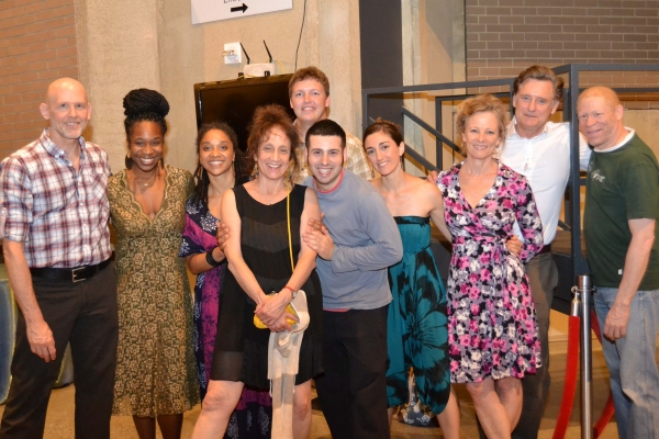 Director and choreographer Liz Lerman and the company of Healing Wars at the opening  Photo