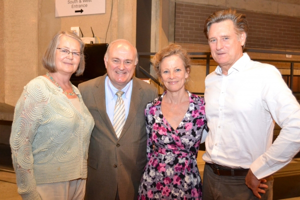 (L to R) Diane Robinson Knapp, George Washington University President Steven Knapp, Tamara Hurwitz Pullman and Bill Pullman at the opening night celebration for Healing Wars at Arena Stage at the Mead Center for American Theater June 12, 2014.