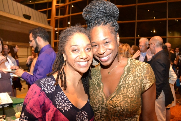 (L to R) Company members Samantha Speis and Marjani Forte at the opening night celebration for Healing Wars at Arena Stage at the Mead Center for American Theater June 12, 2014.