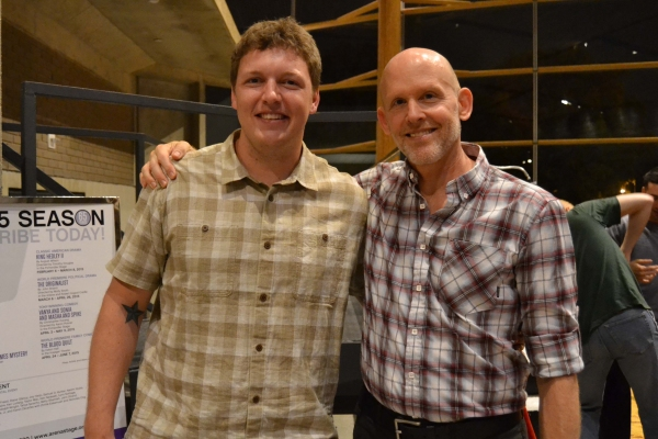 Company members Paul Hurley and Ted Johnson at the opening night celebration for Healing Wars at Arena Stage at the Mead Center for American Theater June 12, 2014.