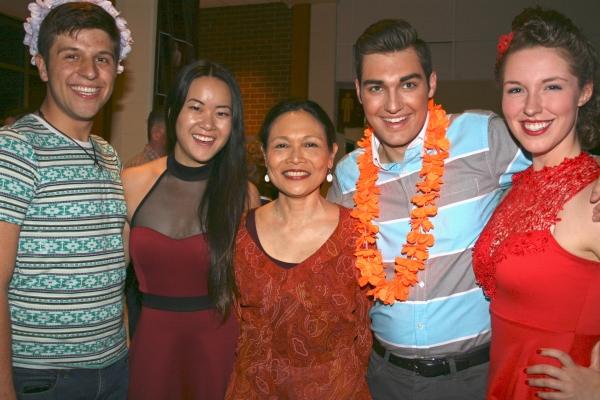 Connor Colbert, Samantha Ma (Liat), Lydia Gaston (Bloody Mary), Serge Clivio and Mia  Photo