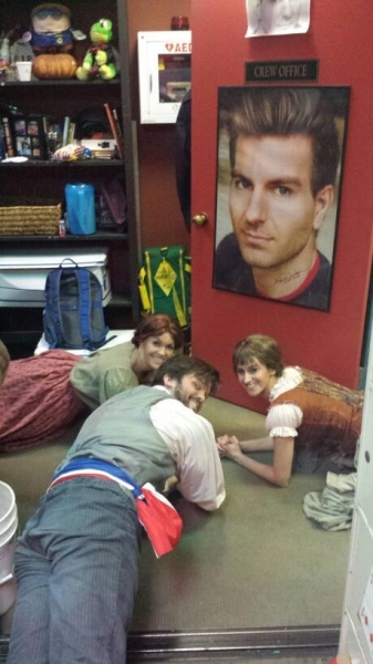 Photo Flash: Saturday Intermission Pics, Part 2 - 6/14 - LES MIZ Plays Heads Up 7 Up, IF/THEN Goes STAR WARS, and More!