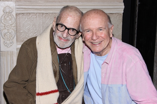 Photo Flash: Larry Kramer Vists Terrence McNally, Tyne Daly & Cast at MOTHERS AND SONS