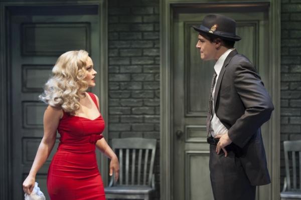 Helena Troy (Erin Driscoll) tosses an intriguing case to Nick Cutter (Doug Carpenter)