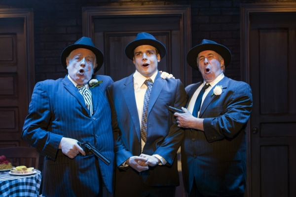 "Fat Tony (Ed Dixon), Nick Cutter (Doug Carpenter) and Gino (Christopher Bloch) sing �""Who Put the Mob In"""