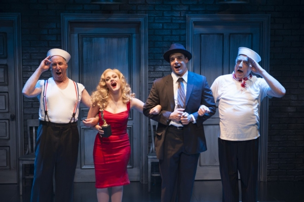 "The Company (Christopher Bloch, Erin Driscoll, Doug Carpenter, and Ed Dixon) sings �""The Best of Times (Reprise)"""