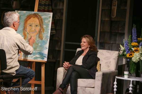Photo Coverage: Steve Bakunas Paints Linda Lavin in  PORTRAIT OF AN ARTIST
