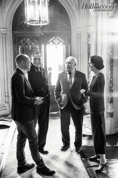Gareth Neame, Jim Carter, Julian Fellowes, Michelle Dockery