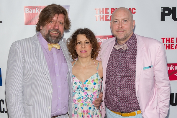 Public Theater Artistic Director Oskar Eustis, Public Theater Board Chair Arielle Tepper Madover, and Public Theater Executive Director Patrick Willingham