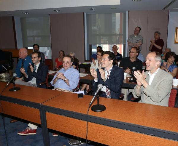AEA''s David Westphal, Marc Bruni, Paul Blake, Mike Posner, Douglas McGrath and AEA staff