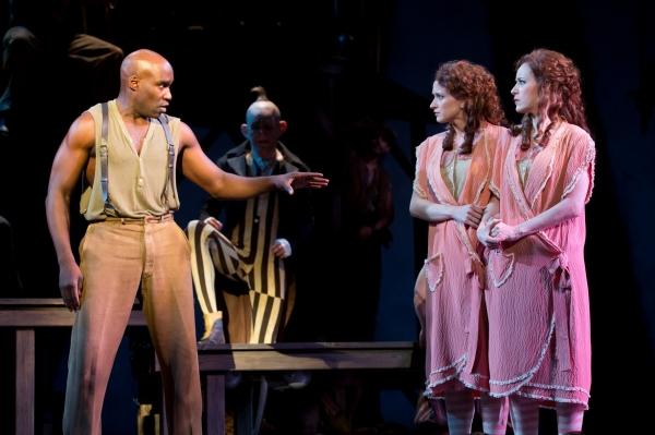 David St. Louis as Jake, Emily Padgett as Daisy Hilton and Erin Davie as Violet Hilto Photo