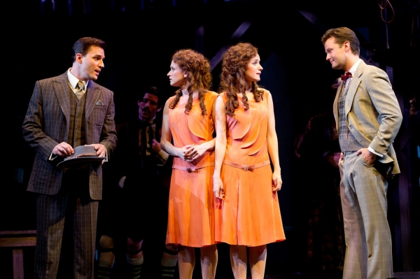 Ryan Silverman as Terry Connor, Emily Padgett as Daisy Hilton, Erin Davie as Violet Hilton and Matthew Hydzik as Buddy Foster