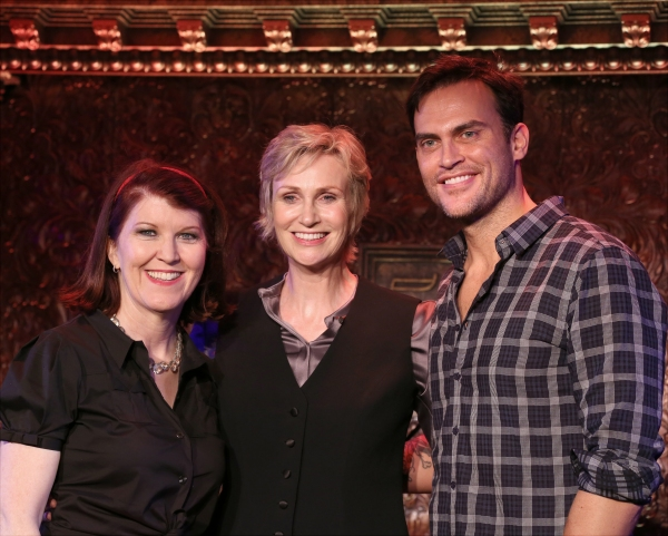 Kate Flannery, Jane Lynch, and Cheyenne Jackson