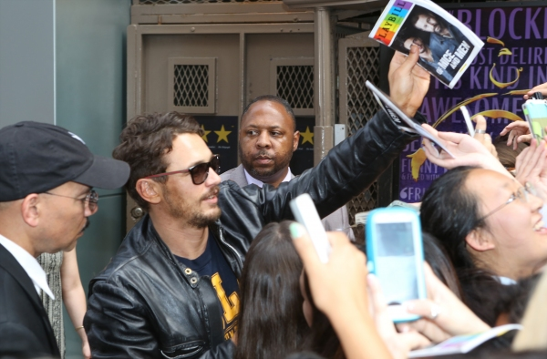 Photo Coverage: James Franco Greets Fans at OF MICE AND MEN Stage Door