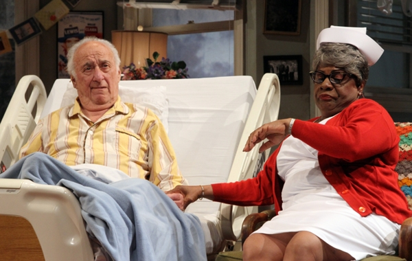 Jerry Adler (Willie Clark) and Tina Fabrique (Mrs. O'Neill)  Photo