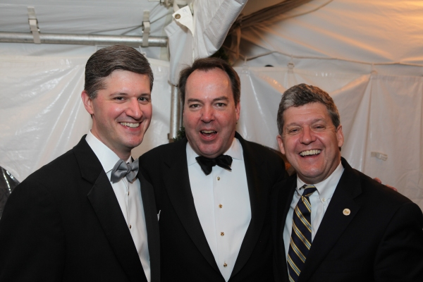Mayor Scott Slifka, Chuck Coursey, and town council member Burke Doar support the Mayor''s Charity Ball.