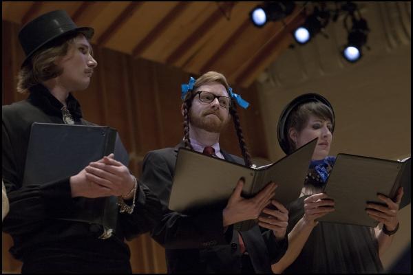 Austin Carlett, Tyler Coates and Jill Pangallo Photo