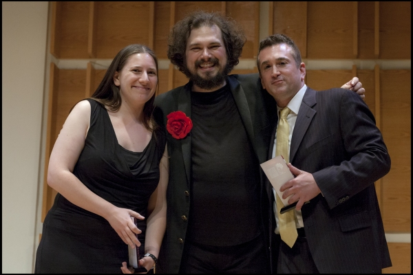 Justin Sayre with Grace Milzoff and Neil Schaier, AFC Volunteers given the Judy Award for their service
