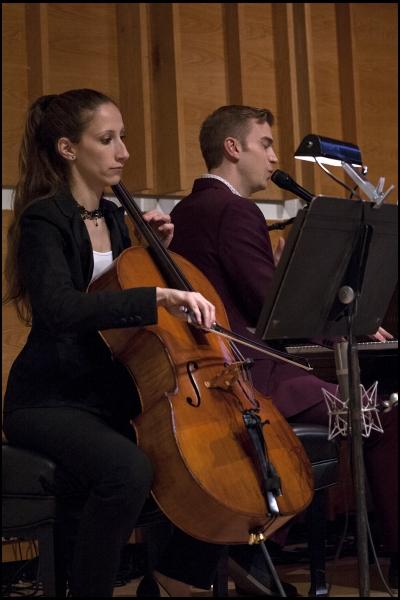 Cellist Allison Seidner with Spencer Day