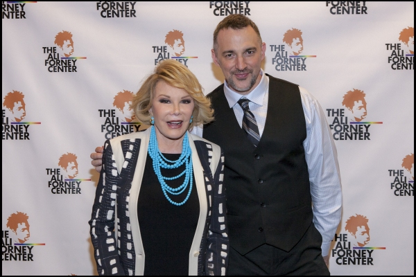 Joan Rivers and Ali Forney Center Founder Carl Siciliano