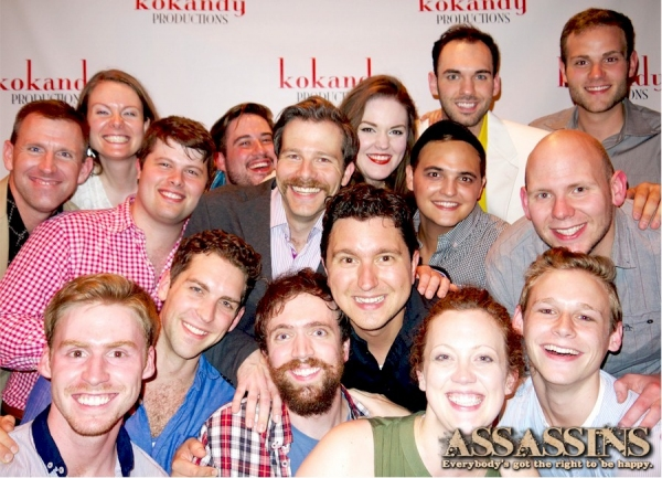 The cast and crew of Kokandy Productions'' ASSASSINS. Back Row: Mike Ford, Rachel Edw Photo