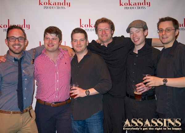 The ASSASSINS orchestra: Mike Matlock, Kory Danielson, Kyle McCullough, Scott Simon, Jered Montgomery, and David Orlicz