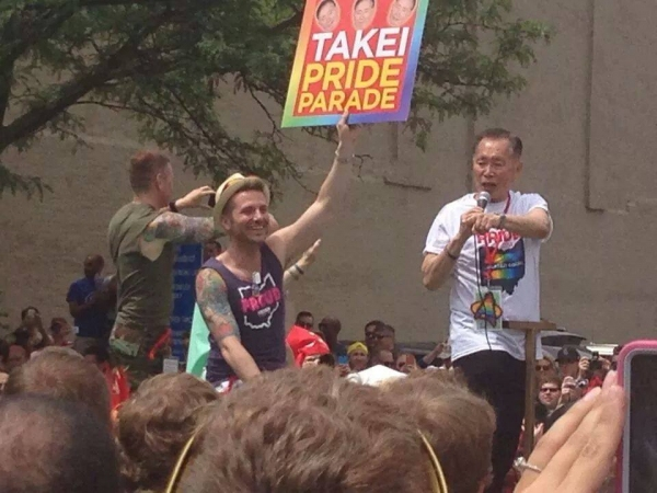 Photo Flash: First Look at George Takei as Grand Marshal in Columbus Pride Parade