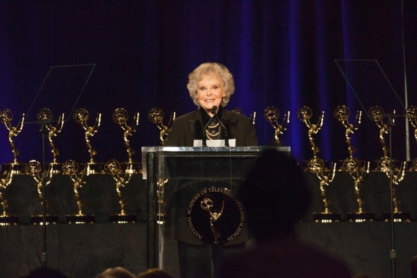 June Lockhart at the podium