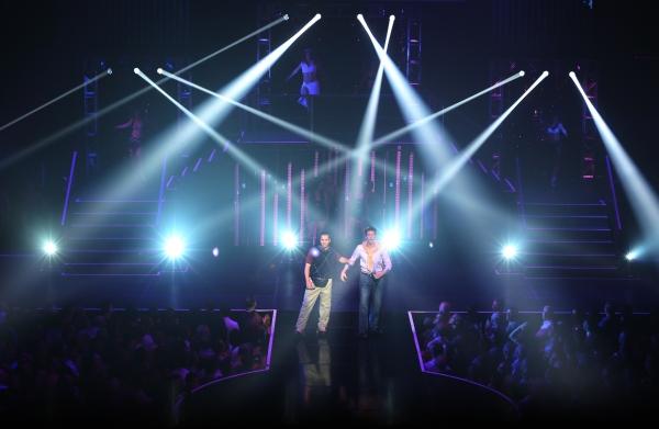 Matthew Saldivar and Joey Taranto perform  in''Rock Hard!'' Photo
