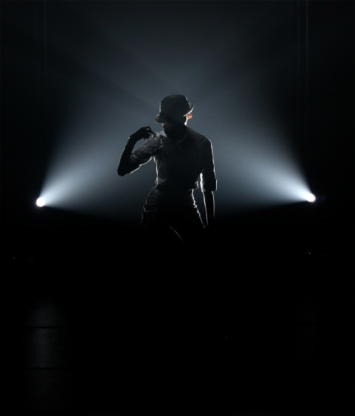 Cast members perform MICHAEL JACKSON