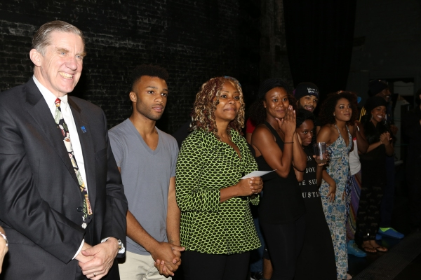 President Nick Wyman, Dyllon Burnside, Tonya Pinkins and cast
