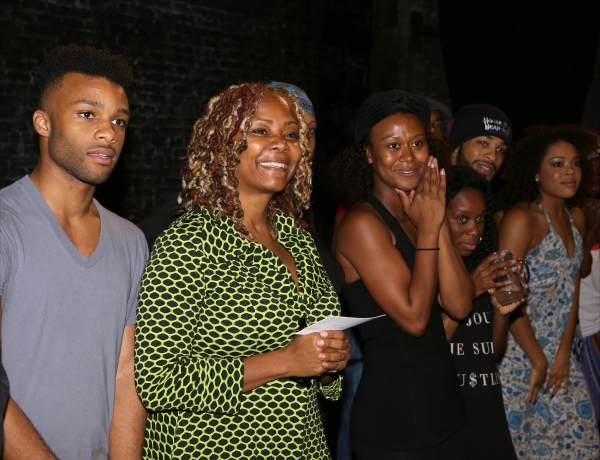 Dyllon Burnside, Tonya Pinkins and cast