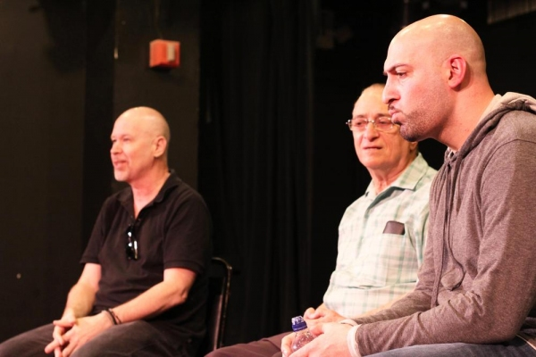 The evening''s panel included Director Richard Hoehler (left), Fortune Society Founder David Rothenberg (center), and Writer/Performer Joe Assadourian (right).