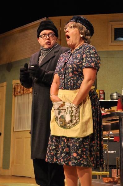 Eddie Curry as Pastor Gunderson and Karen Pappas as Mavis