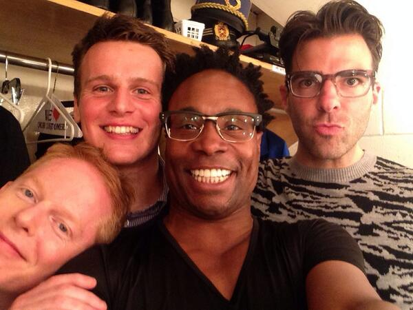 Billy Porter, Zachary Quinto, Jonathan Groff & More Share Selfies Backstage At Marvin Hamlisch Gala