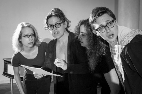 Alyse Alan Louis, Jennifer Simard, Samantha Saltzman (AssistantDirector standing in as Mary McCutter), Will Roland