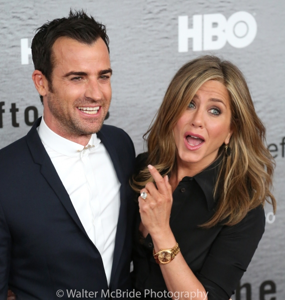 Justin Theroux and Jennifer Aniston Photo