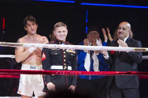 Andy Karl, Corporal Kyle Carpenter, Dakin Matthews and Eric Anderson