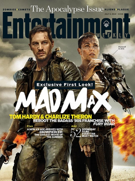 Photo Flash: MAD MAX: FURY ROAD's Tom Hardy & Charlize Theron Cover Latest Issue of Entertainment Weekly