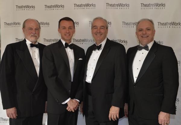 Honoree Ray Rothrock, TheatreWorks Artistic Director Robert Kelley, Honoree  Andrew Lippa, TheatreWorks Managing Director  Phil Santora