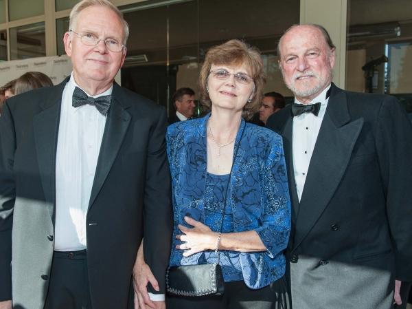 Event co-chair Bill Coughran, Bridget Coughran, TheatreWorks Artistic Director Robert Kelley