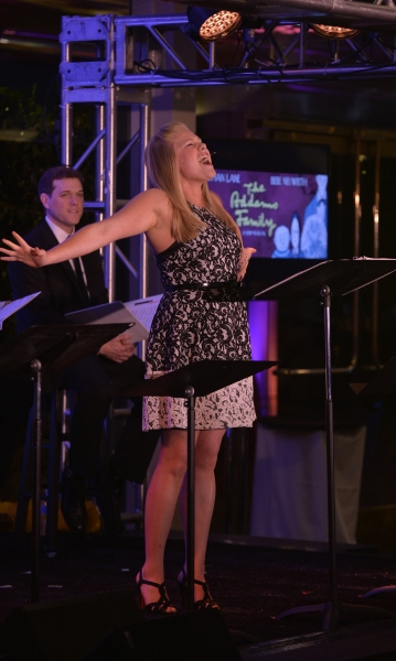 Courtney Stokes performs one of Andrew Lippa's songs