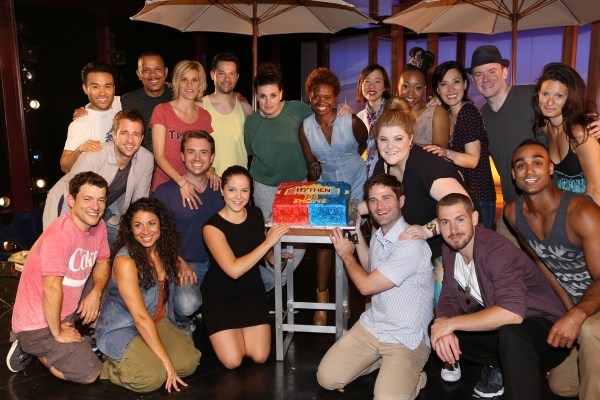 Curtis Holbrook, James Snyder, Jerry Dixon, Jenn Colella, Jason Tam, Idina Menzel and LaChanze with the ensemble cast
