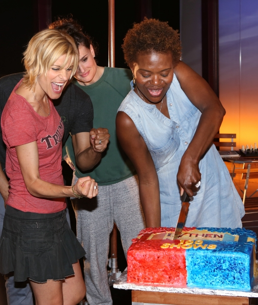 Jenn Colella, Jason Tam, Idina Menzel and LaChanze and the ensemble cast