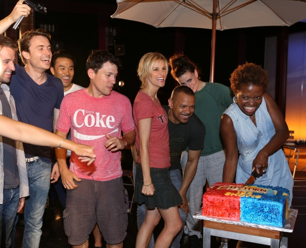 Curtis Holbrook, James Snyder, Marc delaCruz, Miguel Cervantes, Jerry Dixon, Jenn Colella, Idina Menzel and LaChanze