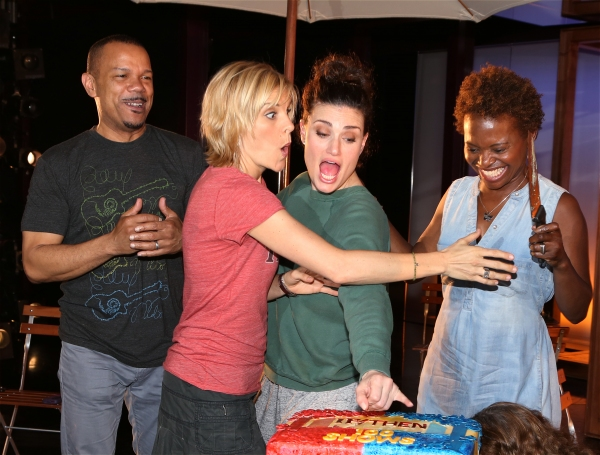 Photo Coverage: Idina Menzel & IF/THEN Cast Celebrate 100th Performance at Richard Rodgers Theatre!