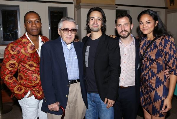 Leslie Odom Jr., Allan Larson, Lin-Manuel Miranda, Oliver Butler and Karen Olivo  Photo