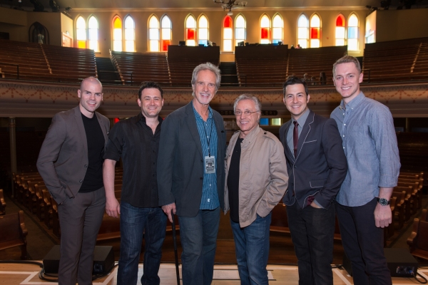 Streetlamp Singers Michael Cunio & Michael Ingersoll, Center: Bob Gaudio & Frankie Valli, Streetlamp Singers Christopher Kale Jones & Shonn Wiley